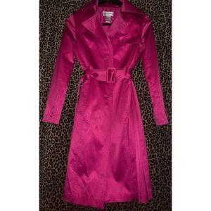 Magenta Trench Coat